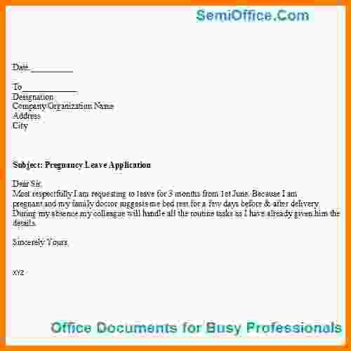 5+ maternity leave application format | Medical Report