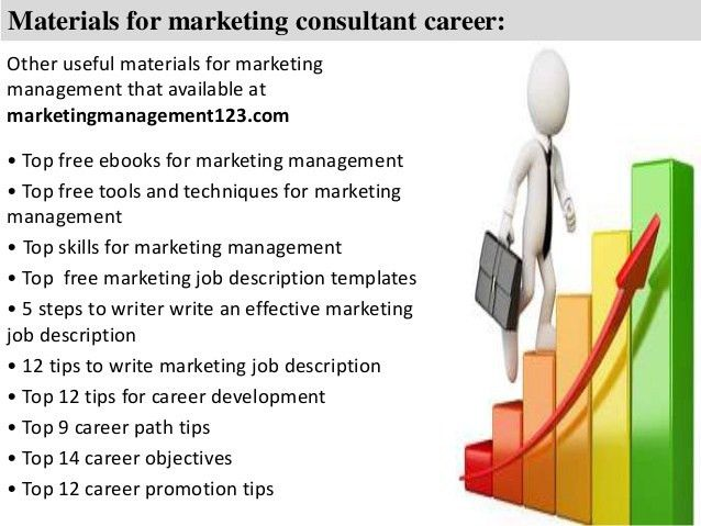 Marketing Consultant Description  Best Market