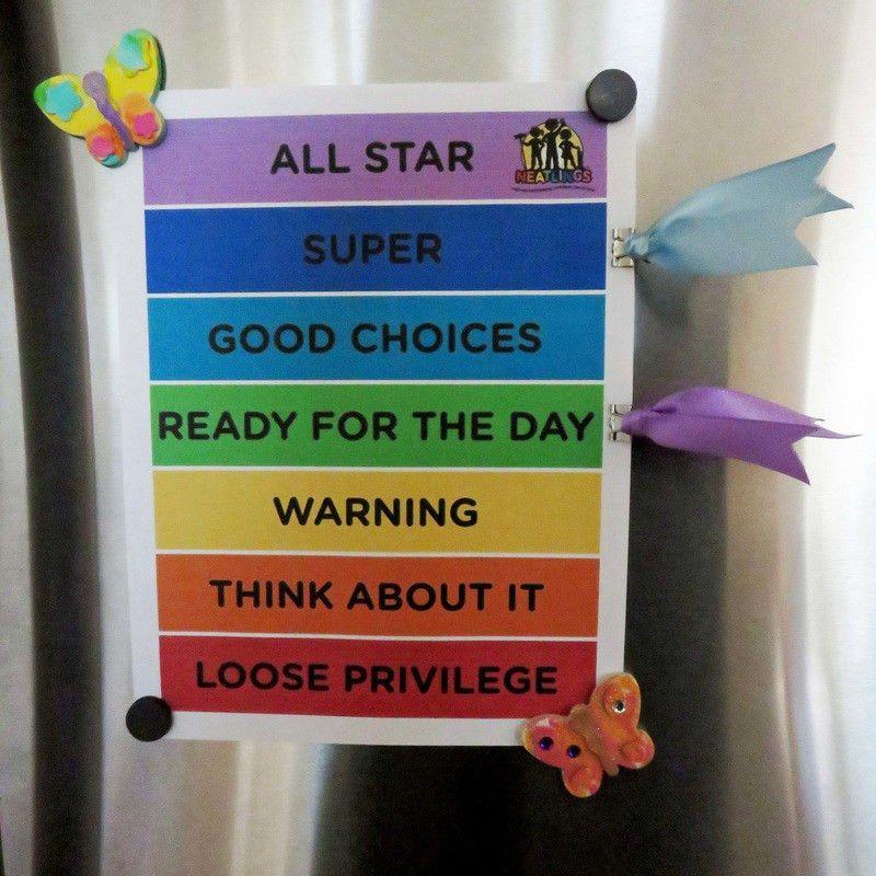 at home behavior chart kids | Kids Color Behavior Chart for home ...