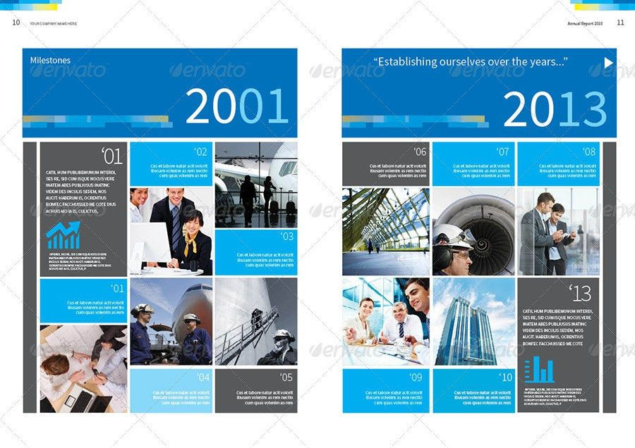 Annual Report Design Template Vol.2 by thinqueber | GraphicRiver