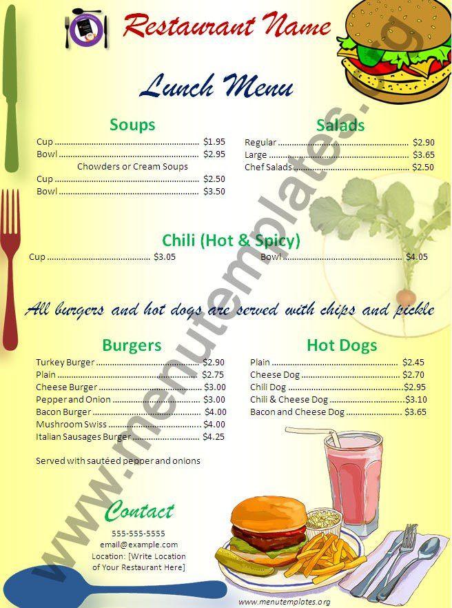 food menu template free vectors ui download. hand drawn bakery ...