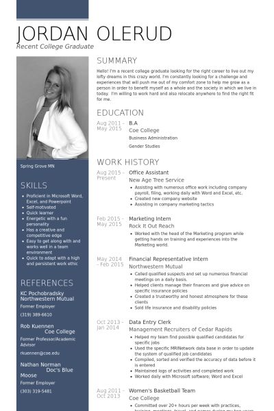 Office Assistant Resume samples - VisualCV resume samples database