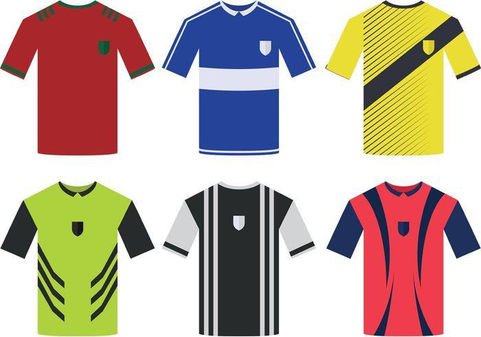 Collection Of Soccer Jersey Vector | free vectors | UI Download