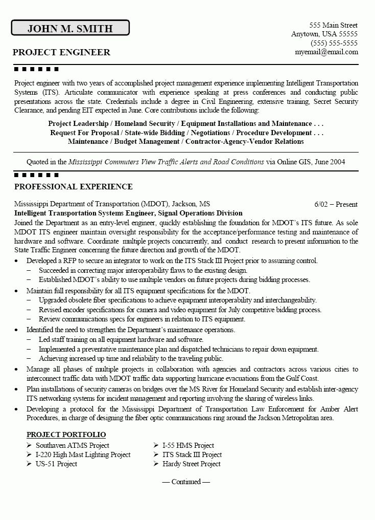 Download Construction Engineer Sample Resume ...