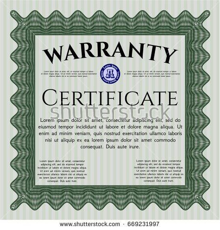 Certificate Design Template Green Frame Stock Vector 261134513 ...
