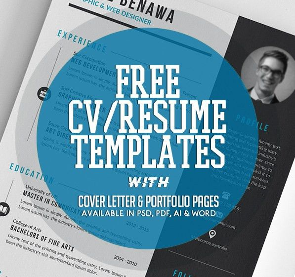 20 Free CV / Resume Templates 2017 | Freebies | Graphic Design ...