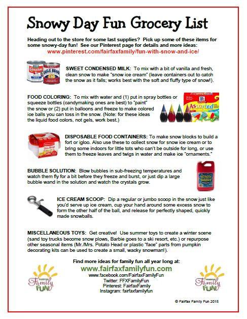 Plan for wintry good times with our Snowy Day Fun Grocery List ...