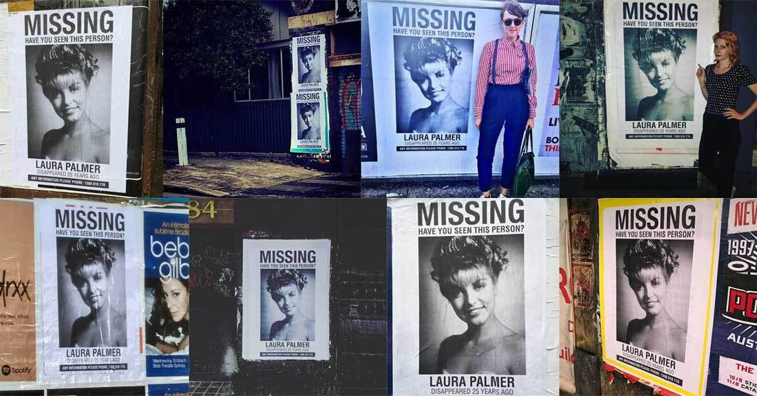 """Missing"""" Laura Palmer Posters All Over Sydney Lead To Phone Number ..."""