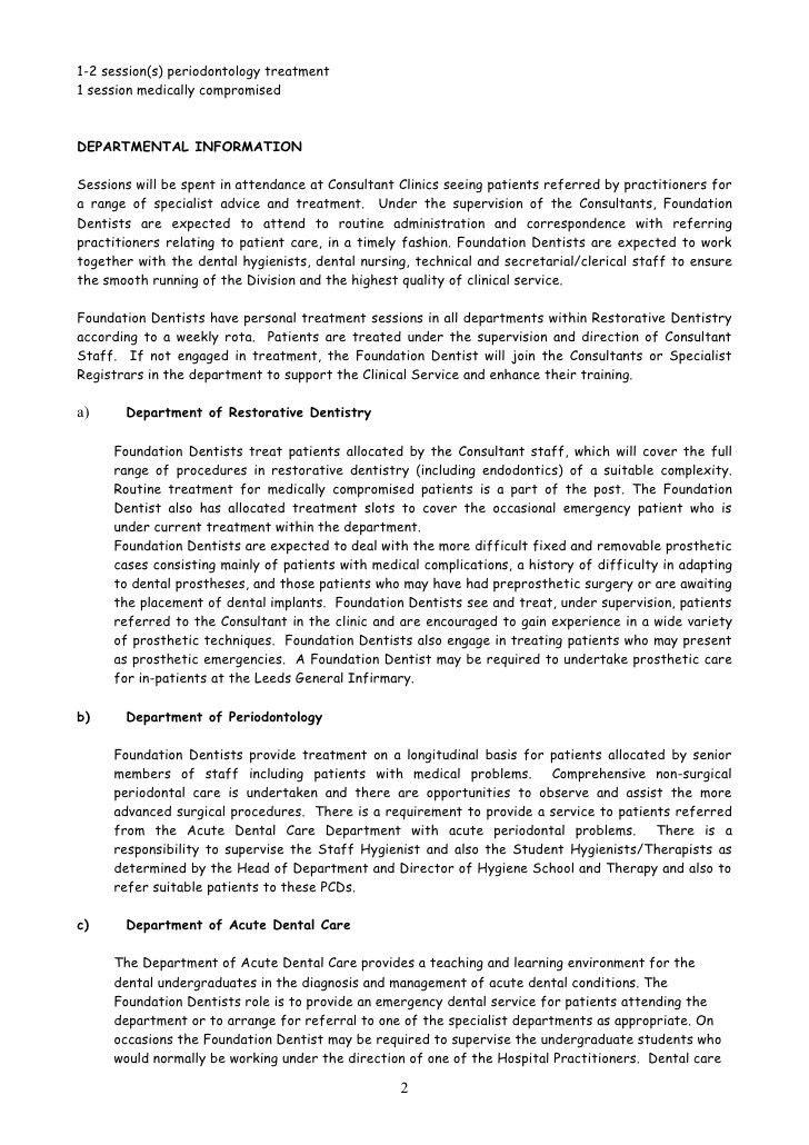 Person Specification/Job Description