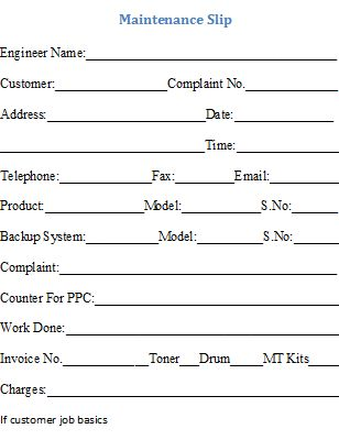 Maintenance Invoice Template and Format free Download