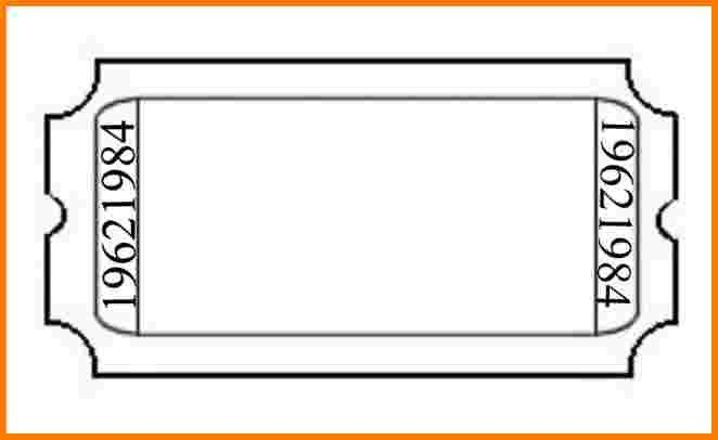 Printable Admission Ticket Template Sample with Blank Space : Thogati