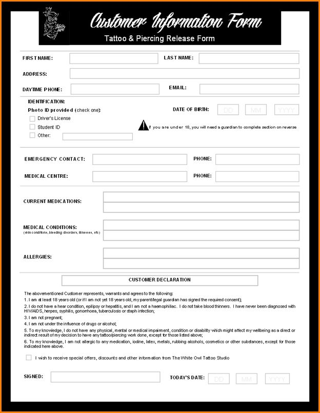 Customer Form Template Customer Service Request Form Template – Client Information Form Template
