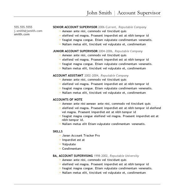 Excellent Resume Templates Free - Resume CV Cover Letter