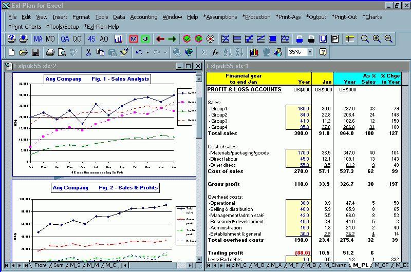 Screen Shot Business Plan Software, Template, Financial ...