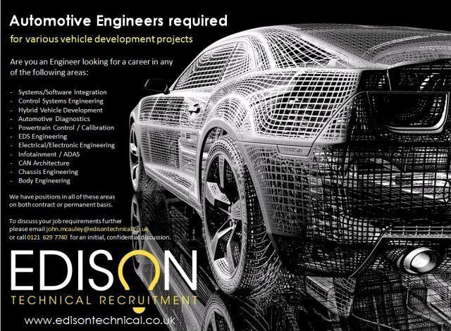 Automotive Systems / Design Engineer - UK