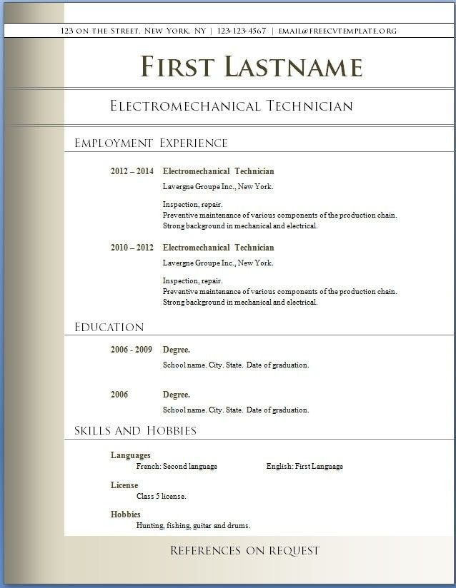 sample resume word document success throughout resume word ...