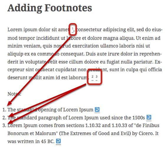 to Create Footnotes in WordPress