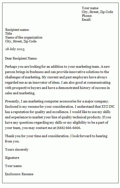 Formal letters: how to write an inquiry letter