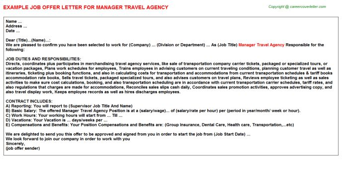 Manager Travel Agency Job Title Docs