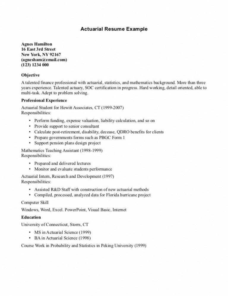 sample actuary resume download sample actuary resume actuarial