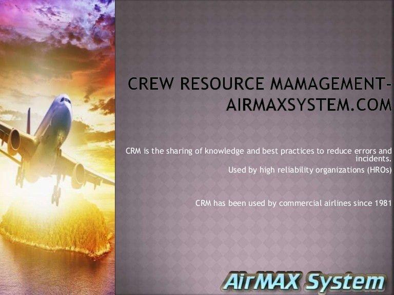 Crew resource management | Flight schedule management| airline reserv…