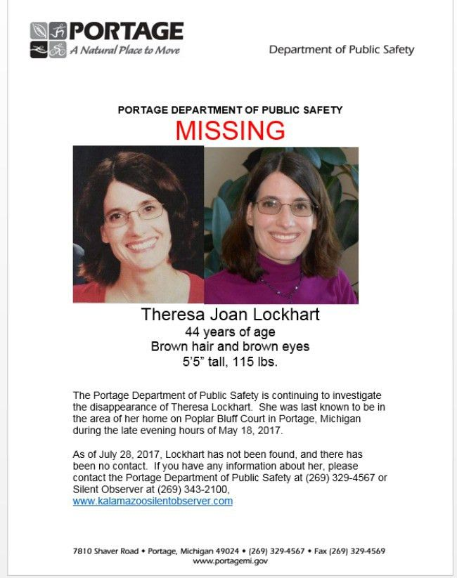 Portage police release new missing person poster in Lockhart case ...