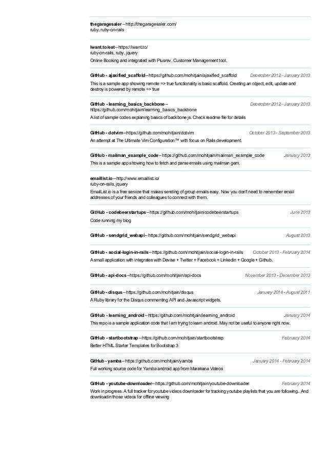 Mohit jain's resume