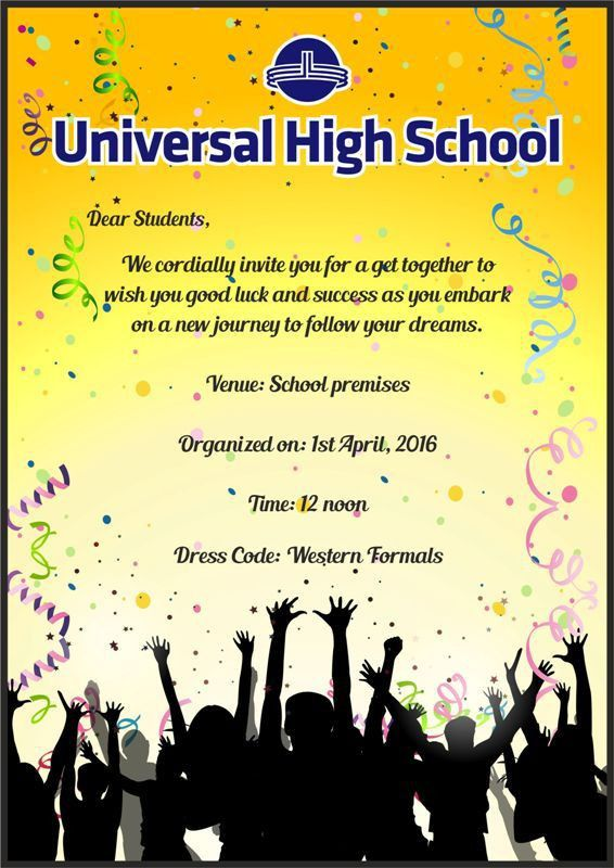 E-Invite for Farewell (Grade X) | Universal High, Thane