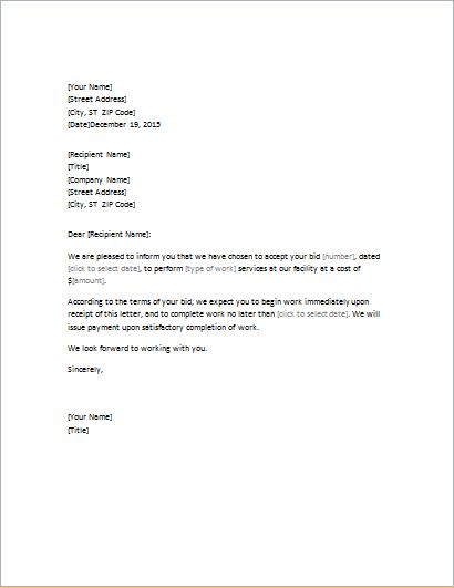 Professional Business Letter Templates | Formal Word Templates