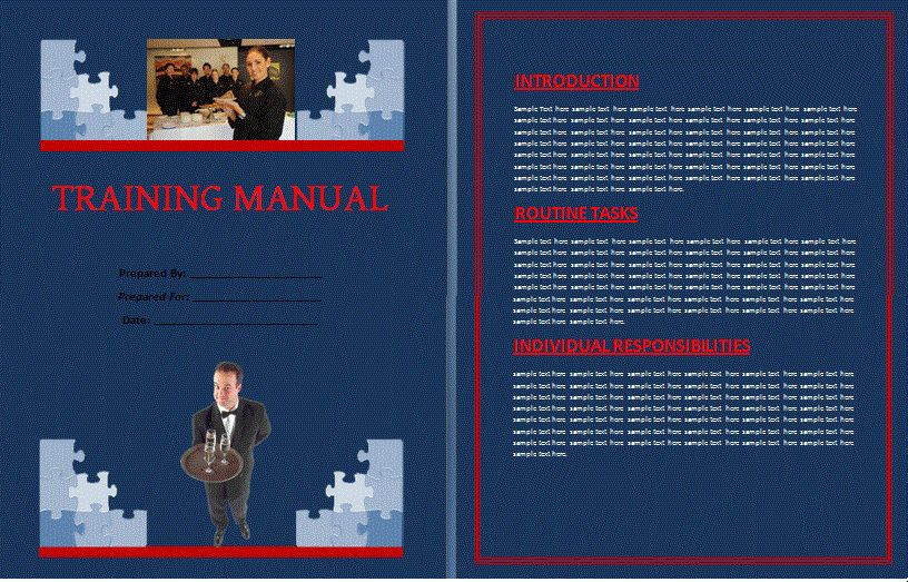 Training Manual Template | Free Manual Templates