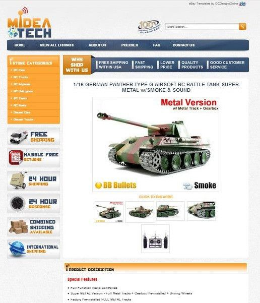 RC Toy and Hobby Shops Shine with eBay Store Designs & eBay Templates