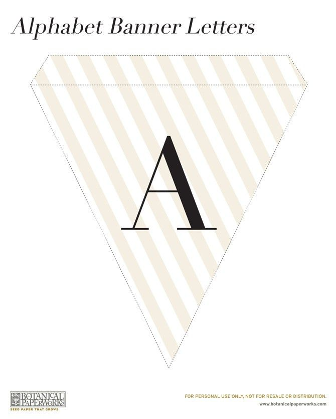 free printable} Alphabet Banner for All Occasions | Blog ...