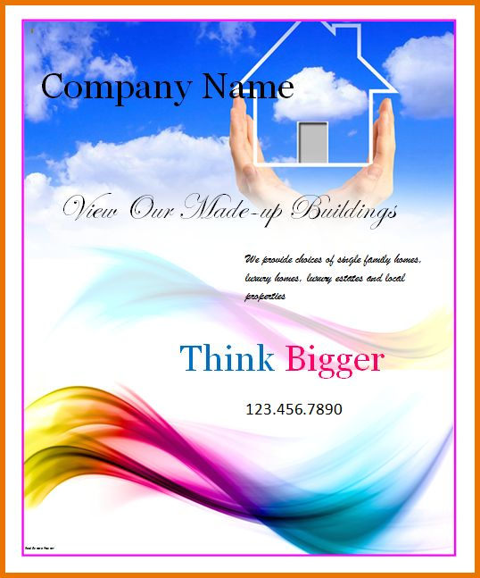 Poster Templates For Word.Real Estate Poster Template.png | Scope ...