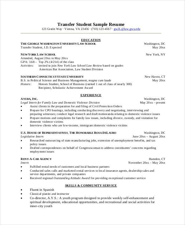 Law School Resume Template. Sample Law School Cover Letter Sample ...