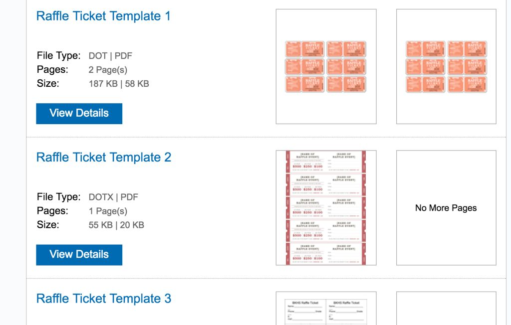 Ticket Size Template - Resume Templates