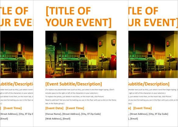 15+ Free Download Event Flyer Templates in Microsoft Word Format ...