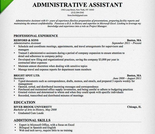 10+ Administration Resume Templates - Free PDF, Word, Samples