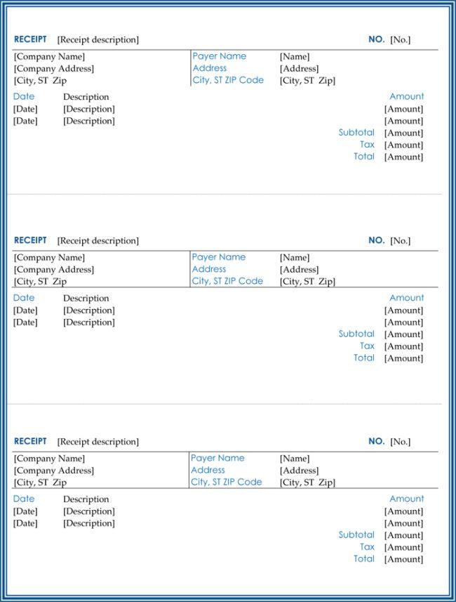 Cash Receipt Template - 5+ Printable Cash Receipt Formats