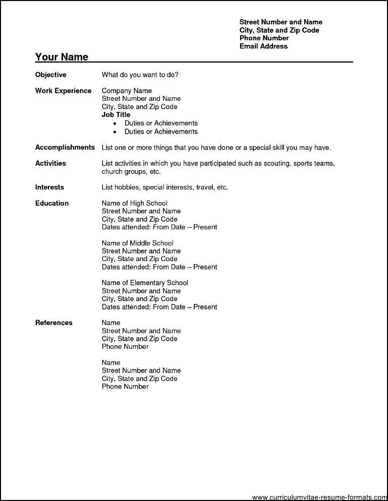 Word Document Resume Format. Sample Resume Format In Word Document ...