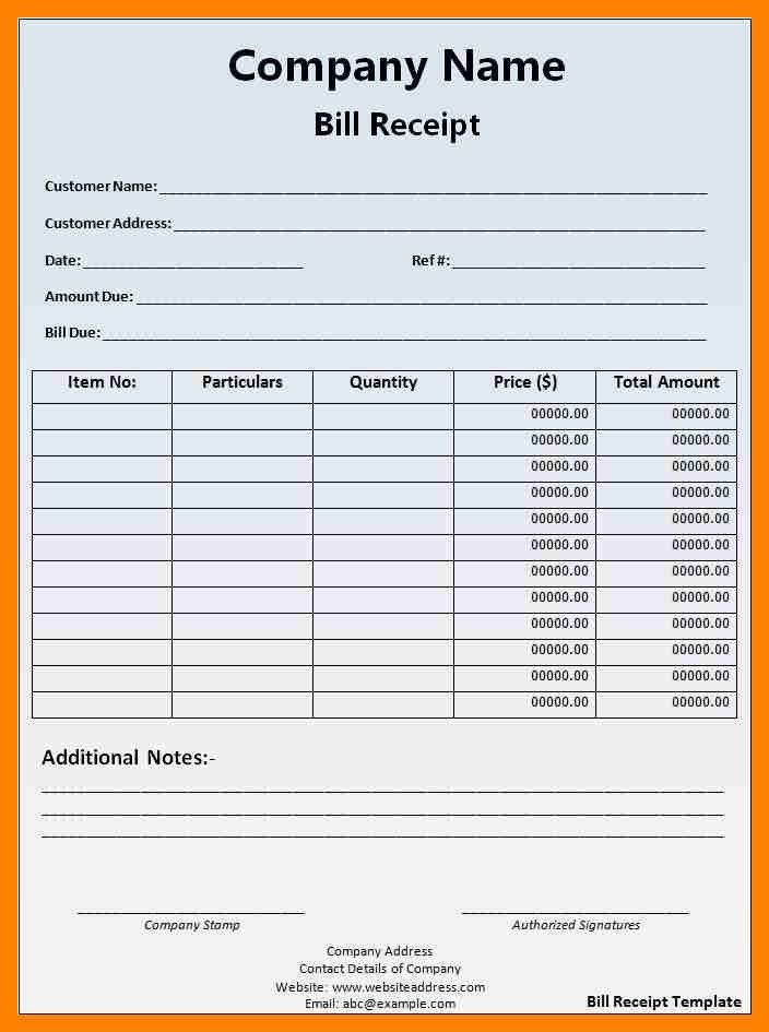 Product Receipt Template Invoice Example Free Sales Receipt - Product invoice template