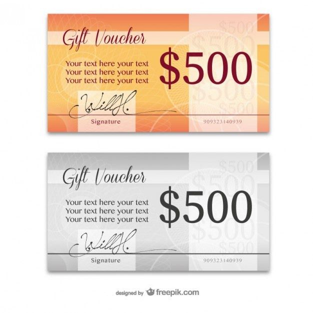 Elegant gift card templates Vector | Free Download