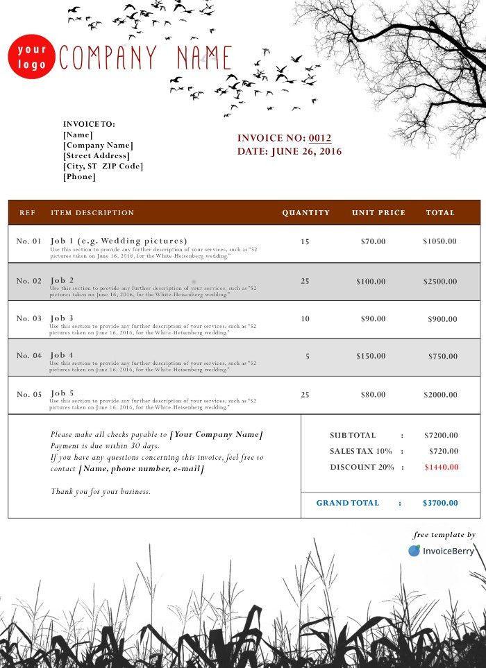 Free PDF Invoice Templates | InvoiceBerry