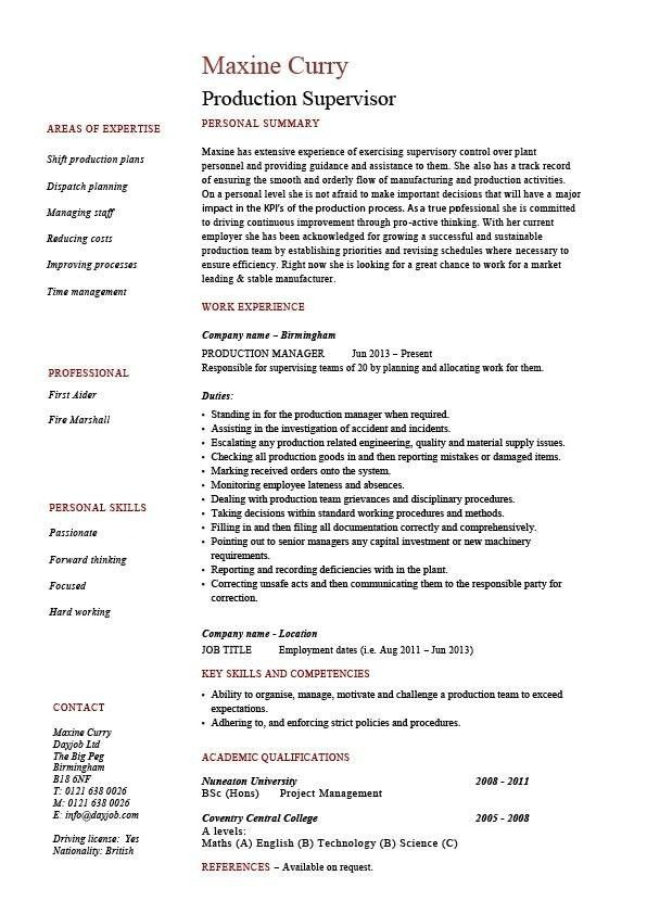 Sample Resume For Hotel Housekeeping Supervisor. download ...