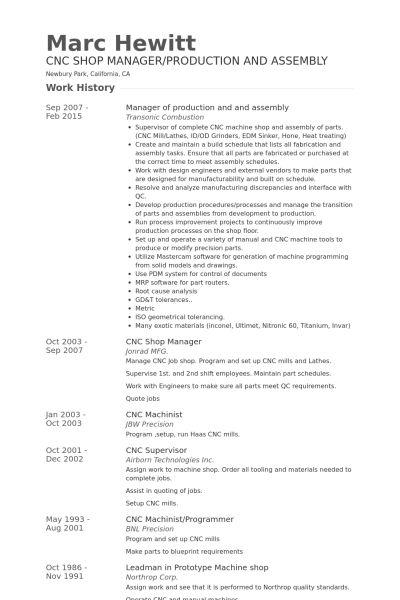 Assembly Resume samples - VisualCV resume samples database