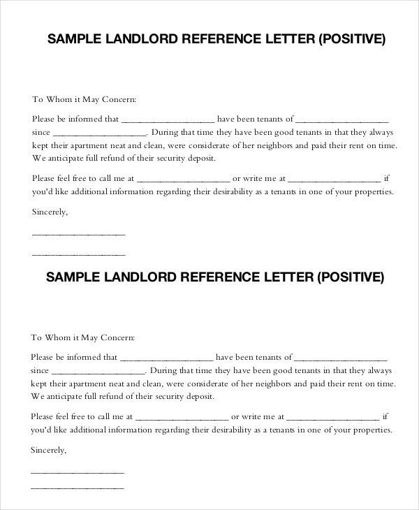 Landlord Reference Letter - 5+ Free Sample, Example, Format | Free ...