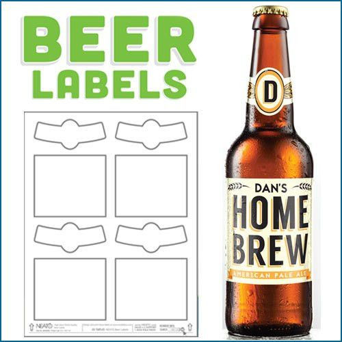 Blank Beer Labels, Water Resistant, Peel Off With Easy
