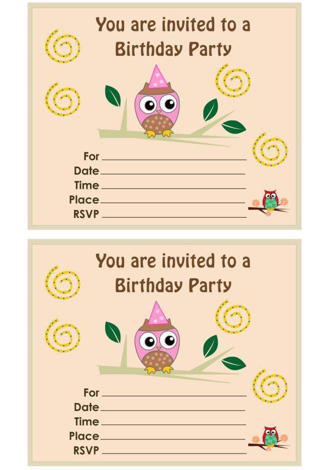 25+ best Owl birthday invitations ideas on Pinterest   Owl ...