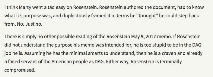 A Letter For Rod Rosenstein To Remember – emptywheel