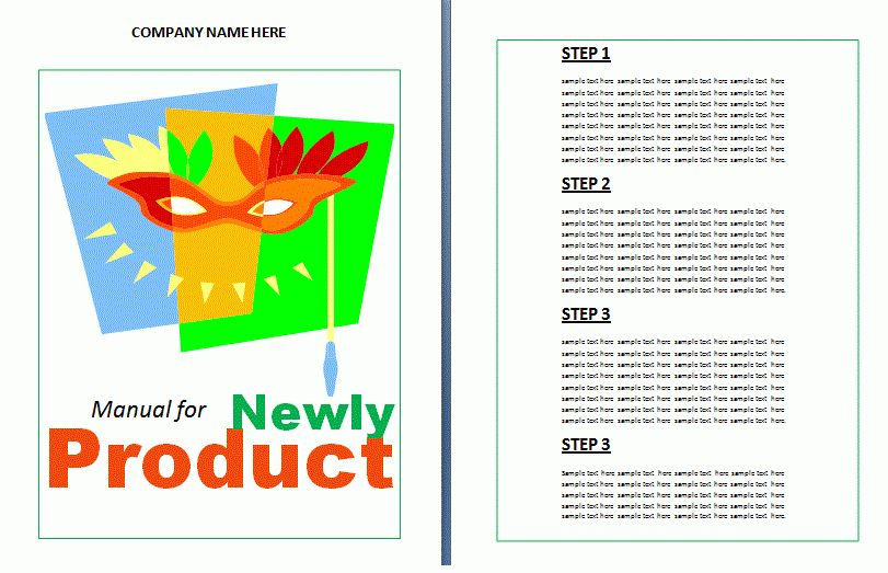 Product Instruction Manual Template | Free Manual Templates