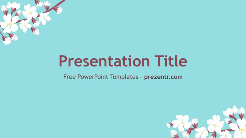 Free Spring PowerPoint Template - Prezentr PPT templates